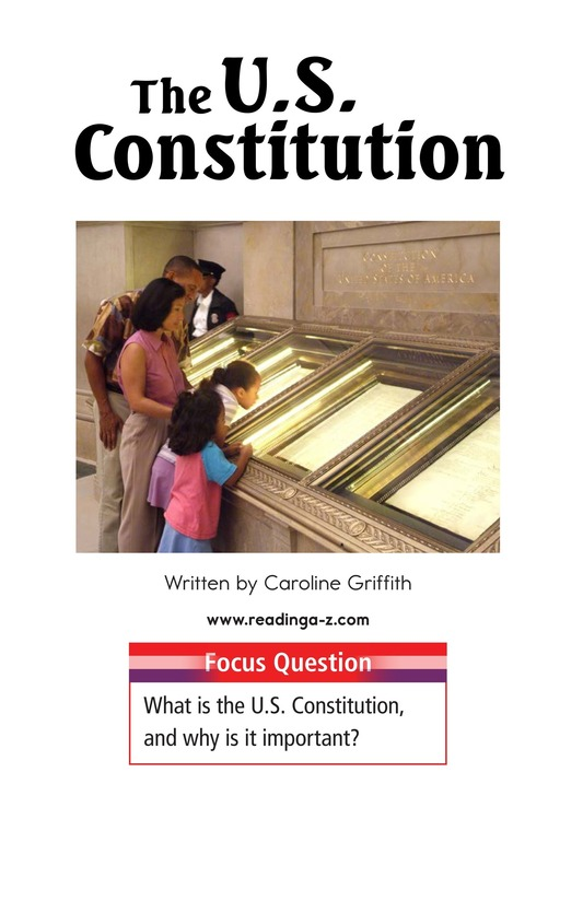 Book Preview For The U.S. Constitution Page 1