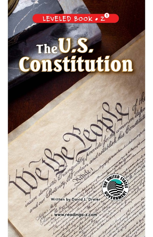 Book Preview For The U.S. Constitution Page 0