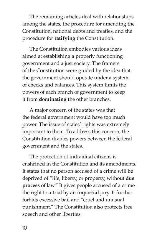 Book Preview For The U.S. Constitution Page 10