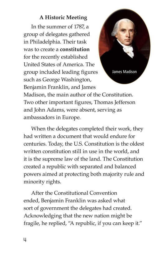 Book Preview For The U.S. Constitution Page 4