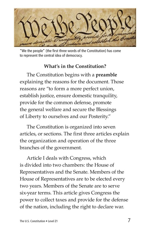 Book Preview For The U.S. Constitution Page 7