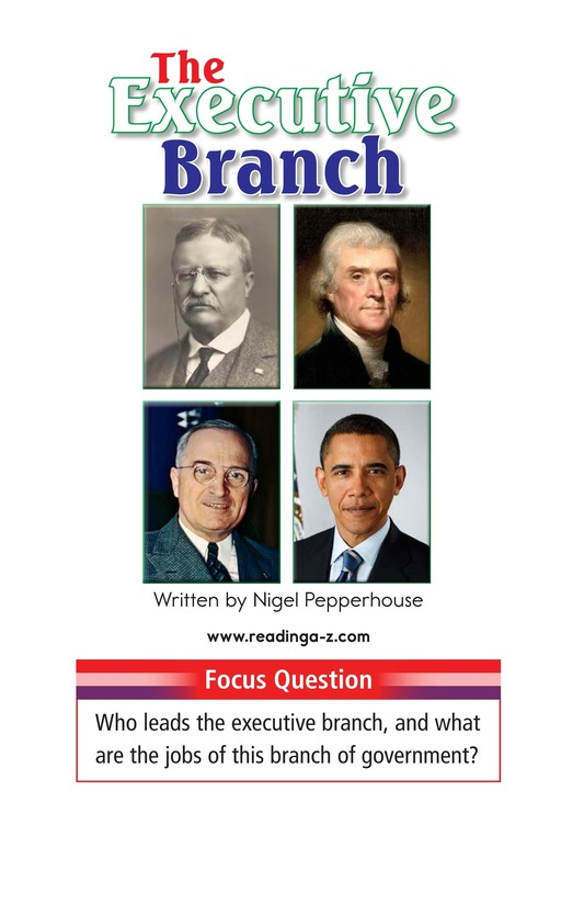 Book Preview For The Executive Branch Page 1