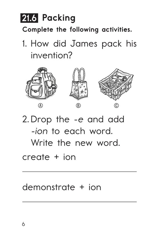 Book Preview For Decodable Passages Set 21 Book 2 Page 6