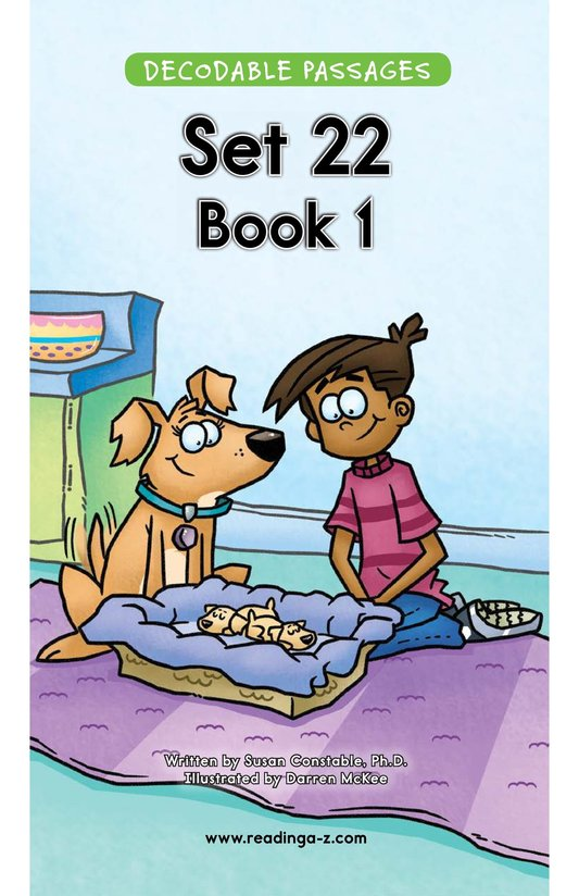 Book Preview For Decodable Passages Set 22 Book 1 Page 1
