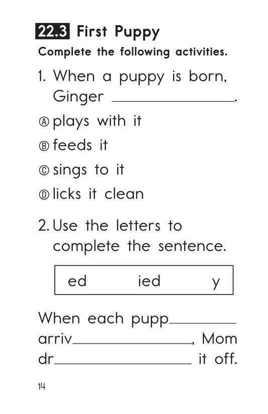 Book Preview For Decodable Passages Set 22 Book 1 Page 14