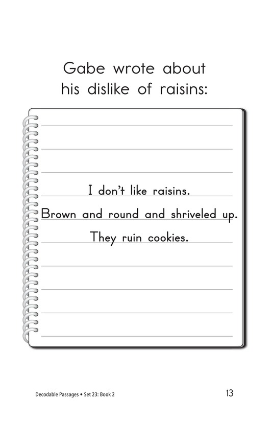 Book Preview For Decodable Passages Set 23 Book 2 Page 13