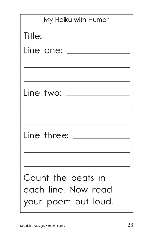 Book Preview For Decodable Passages Set 23 Book 2 Page 23
