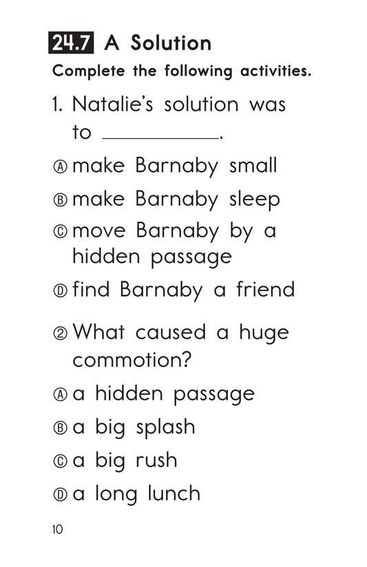 Book Preview For Decodable Passages Set 24 Book 2 Page 10
