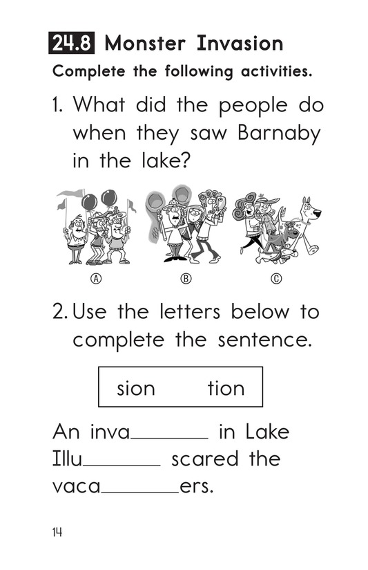 Book Preview For Decodable Passages Set 24 Book 2 Page 14