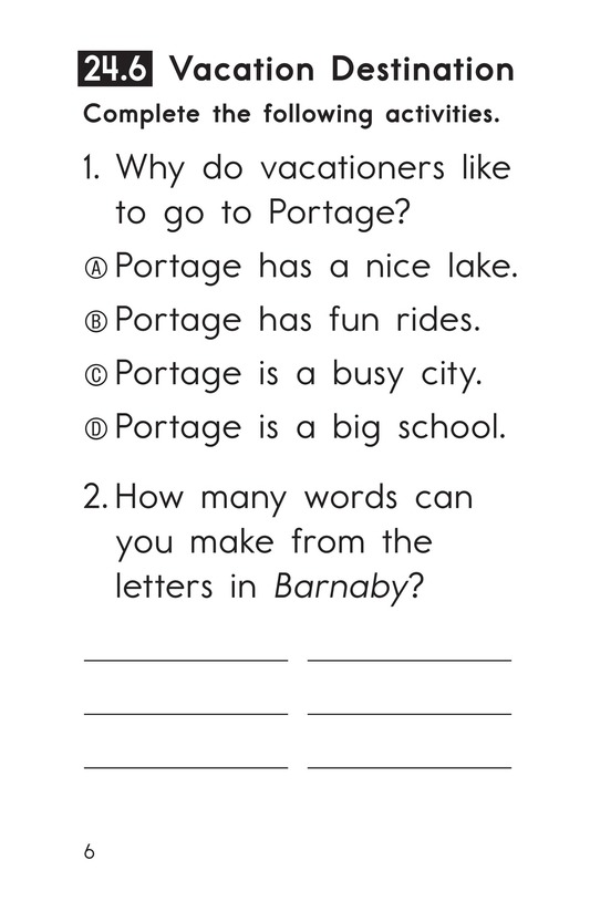 Book Preview For Decodable Passages Set 24 Book 2 Page 6