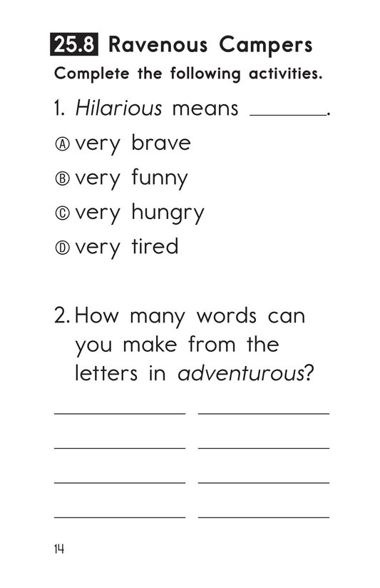 Book Preview For Decodable Passages Set 25 Book 2 Page 14