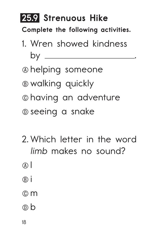 Book Preview For Decodable Passages Set 25 Book 2 Page 18