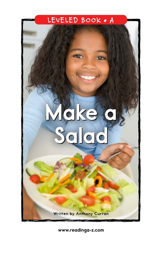 Book Preview For Make a Salad Page 0