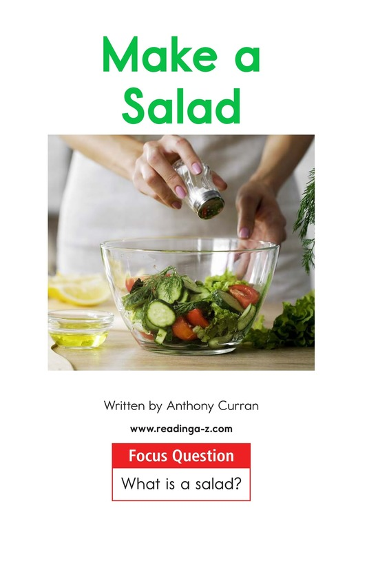 Book Preview For Make a Salad Page 1