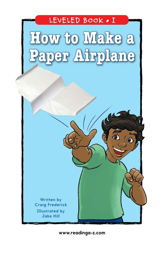 Book Preview For How To Make a Paper Airplane Page 0