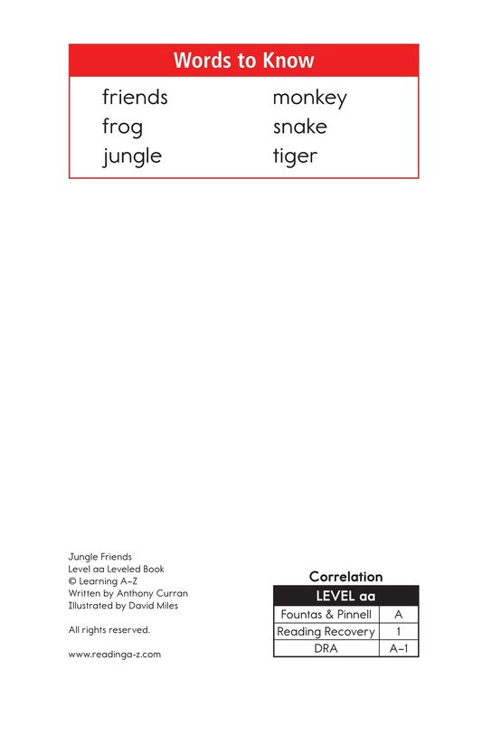 Book Preview For Jungle Friends Page 2