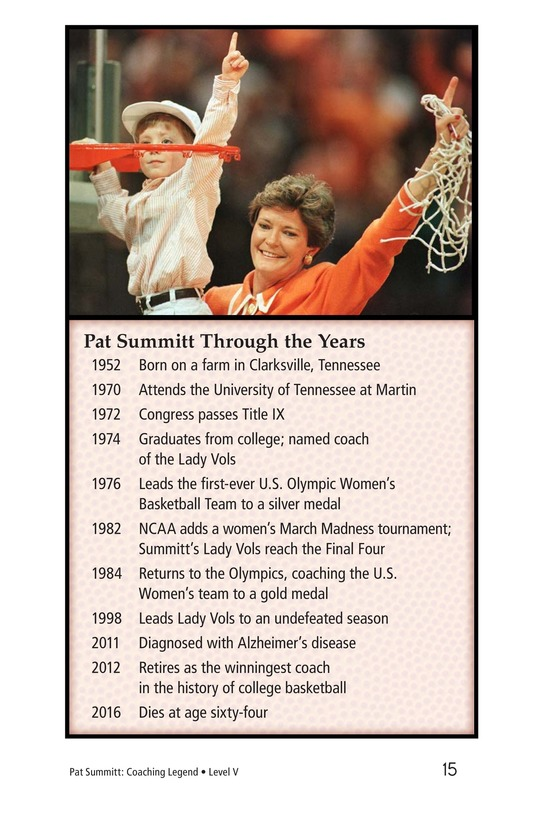 Book Preview For Pat Summitt: Coaching Legend Page 15