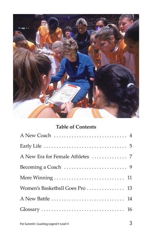Book Preview For Pat Summitt: Coaching Legend Page 3