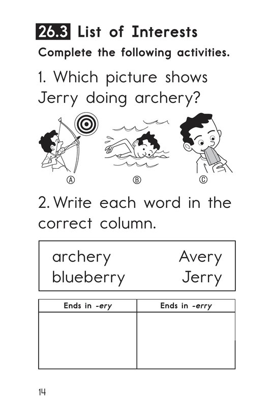 Book Preview For Decodable Passages Set 26 Book 1 Page 14