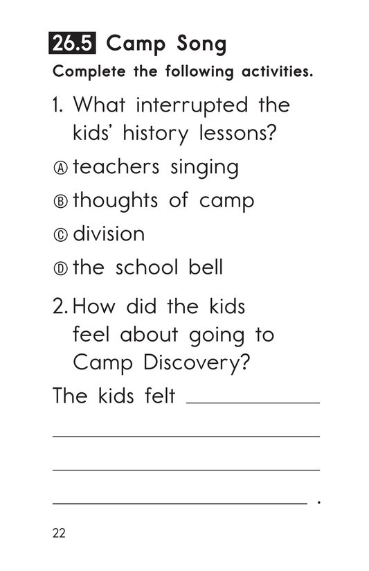 Book Preview For Decodable Passages Set 26 Book 1 Page 22