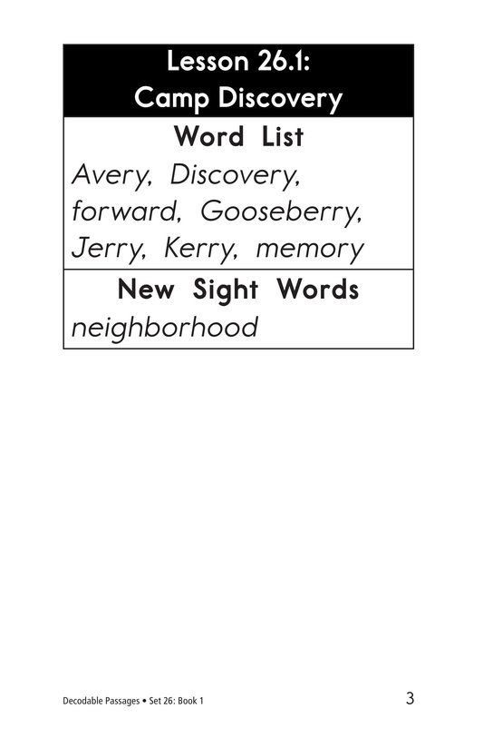 Book Preview For Decodable Passages Set 26 Book 1 Page 3