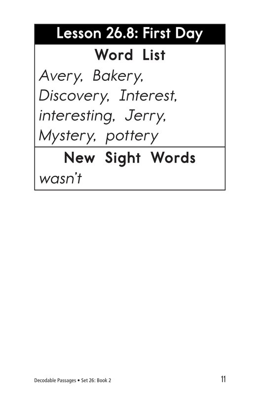 Book Preview For Decodable Passages Set 26 Book 2 Page 11