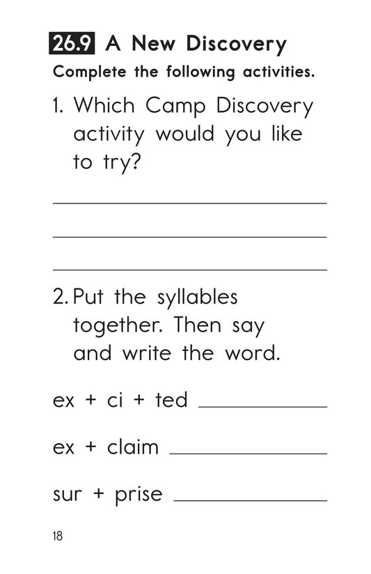 Book Preview For Decodable Passages Set 26 Book 2 Page 18