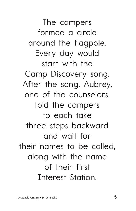 Book Preview For Decodable Passages Set 26 Book 2 Page 5