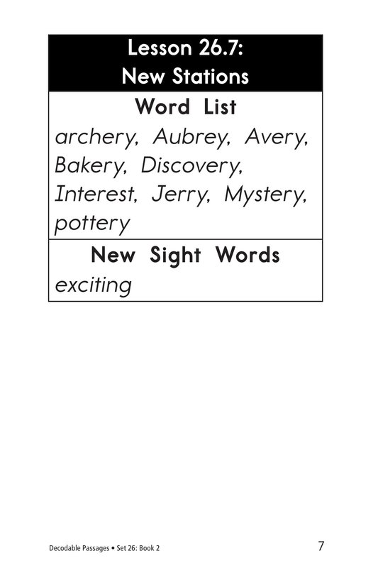Book Preview For Decodable Passages Set 26 Book 2 Page 7