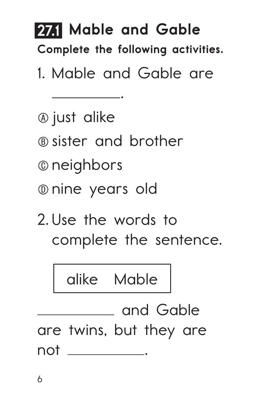 Book Preview For Decodable Passages Set 27 Book 1 Page 6