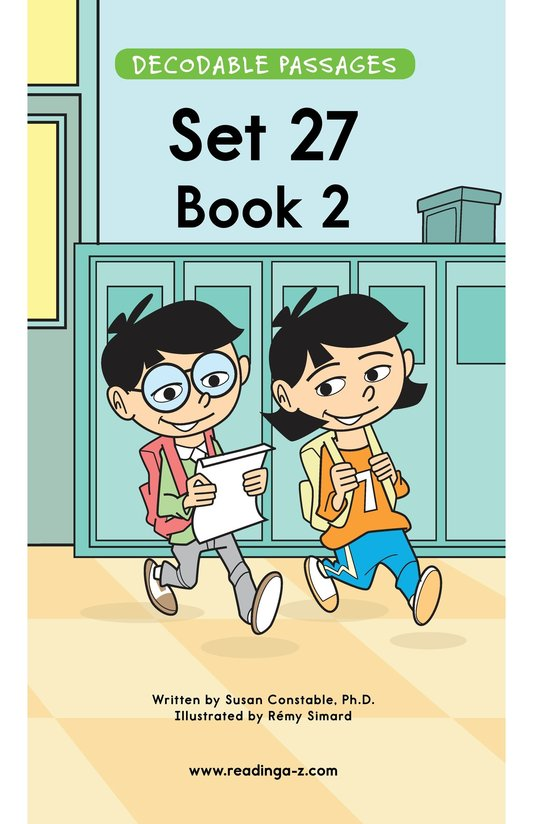 Book Preview For Decodable Passages Set 27 Book 2 Page 1