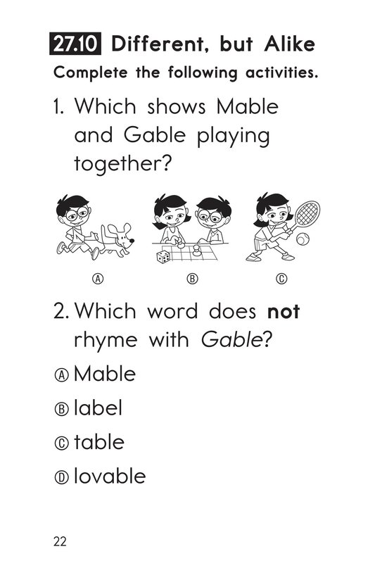 Book Preview For Decodable Passages Set 27 Book 2 Page 22