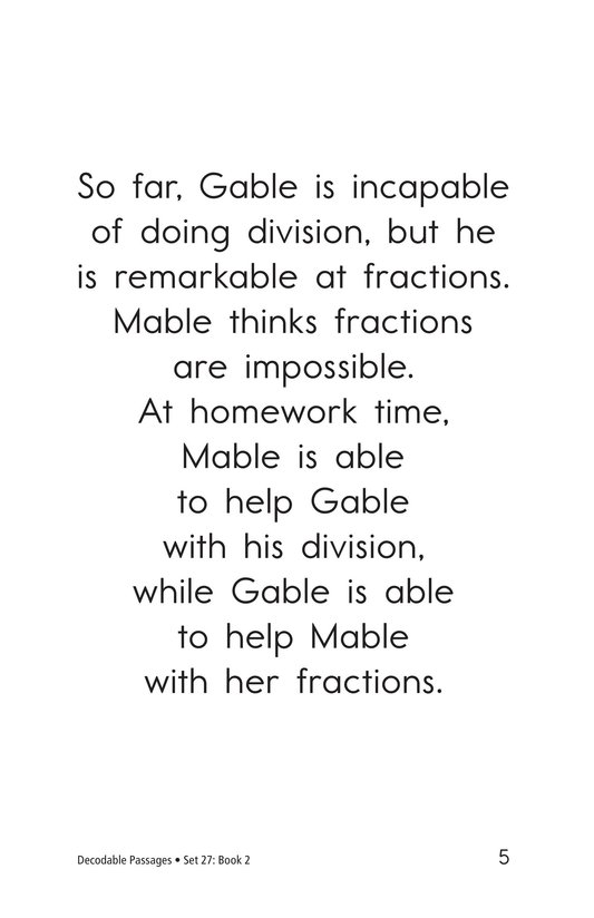 Book Preview For Decodable Passages Set 27 Book 2 Page 5
