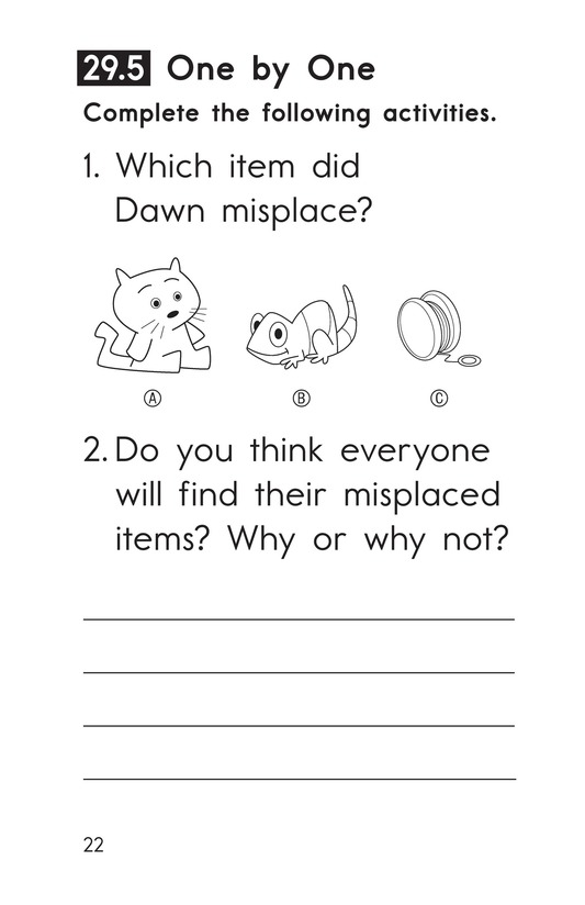Book Preview For Decodable Passages Set 29 Book 1 Page 22