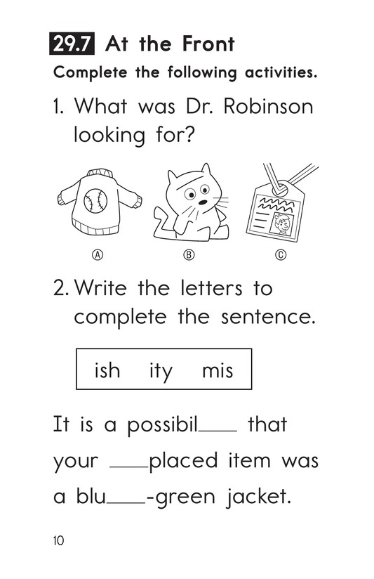 Book Preview For Decodable Passages Set 29 Book 2 Page 10
