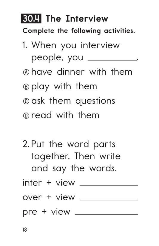 Book Preview For Decodable Passages Set 30 Book 1 Page 18