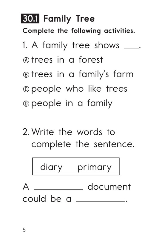 Book Preview For Decodable Passages Set 30 Book 1 Page 6