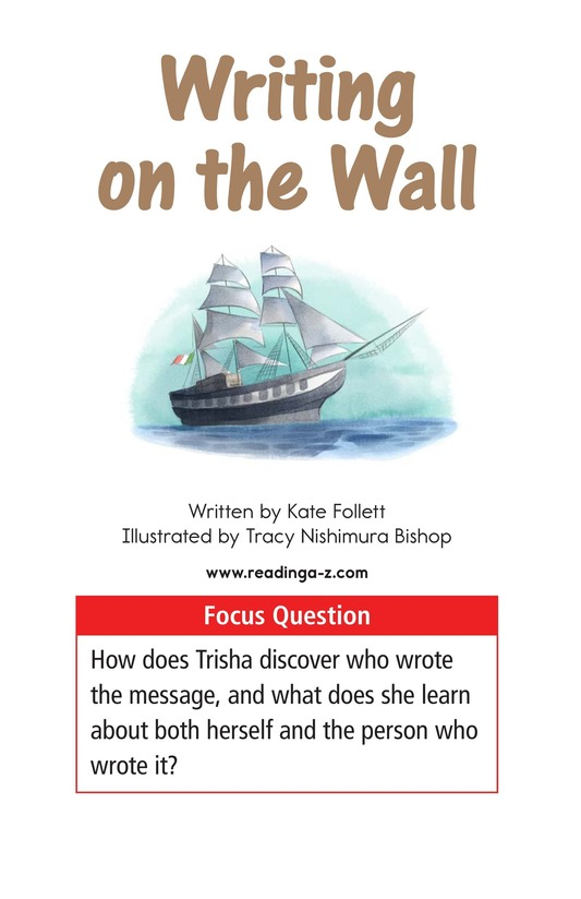 Book Preview For Writing on the Wall Page 1