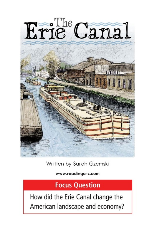 Book Preview For The Erie Canal Page 1