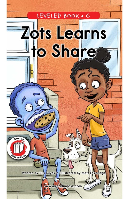 Book Preview For Zots Learns to Share Page 0
