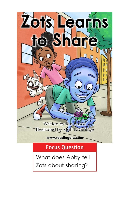 Book Preview For Zots Learns to Share Page 1