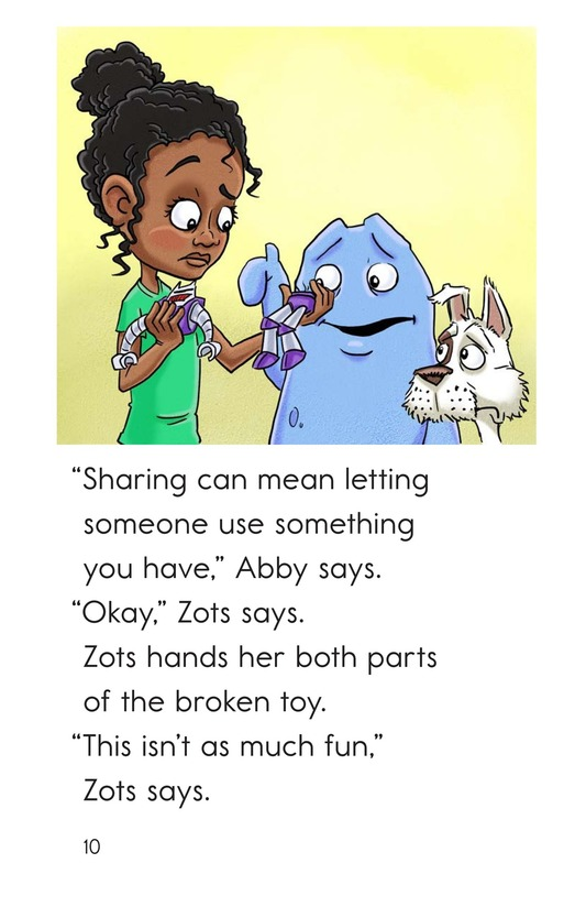 Book Preview For Zots Learns to Share Page 10