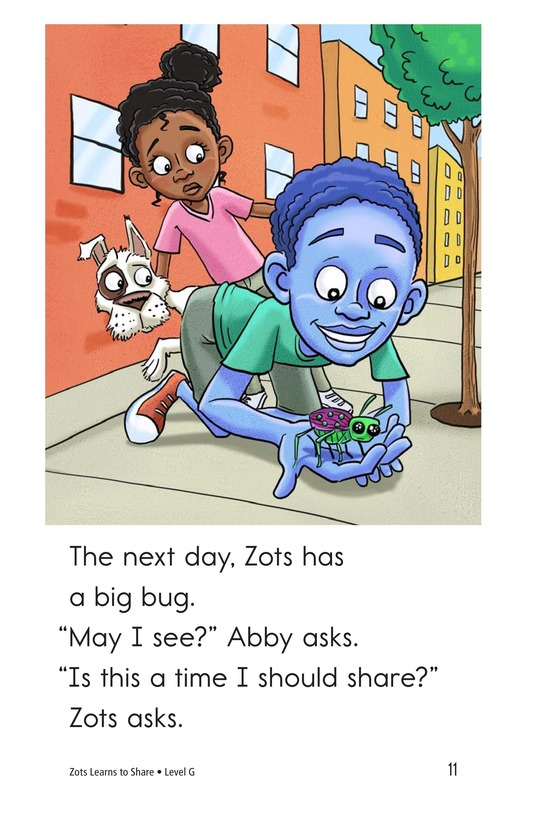 Book Preview For Zots Learns to Share Page 11