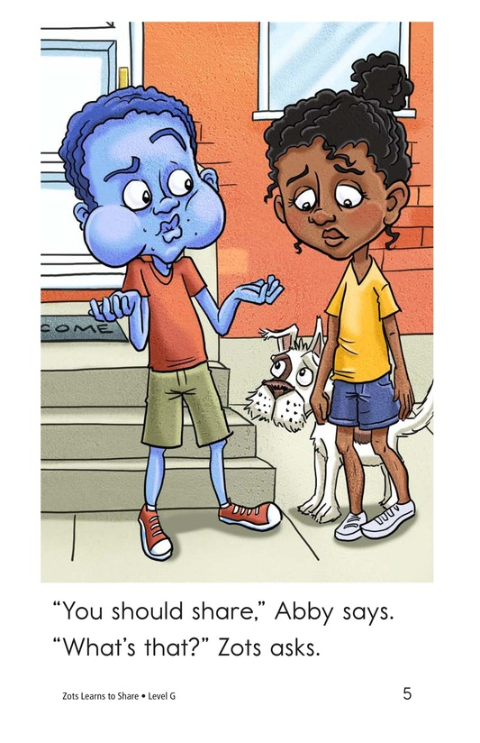 Book Preview For Zots Learns to Share Page 5