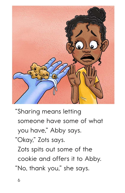 Book Preview For Zots Learns to Share Page 6