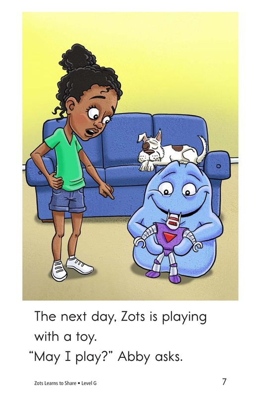 Book Preview For Zots Learns to Share Page 7