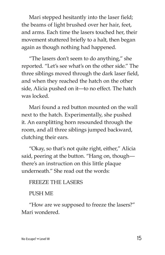 Book Preview For No Escape? Page 15