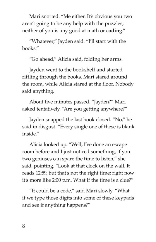 Book Preview For No Escape? Page 8