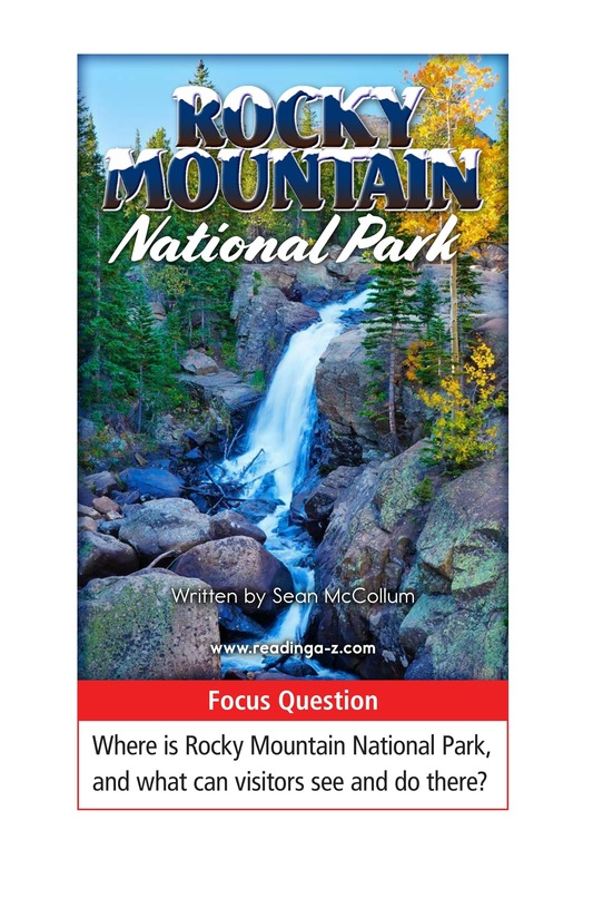 Book Preview For Rocky Mountain National Park Page 1