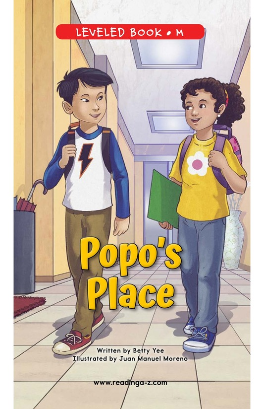 Book Preview For Popo's Place Page 0